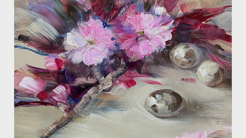 Cherry Blossom and Quail Eggs