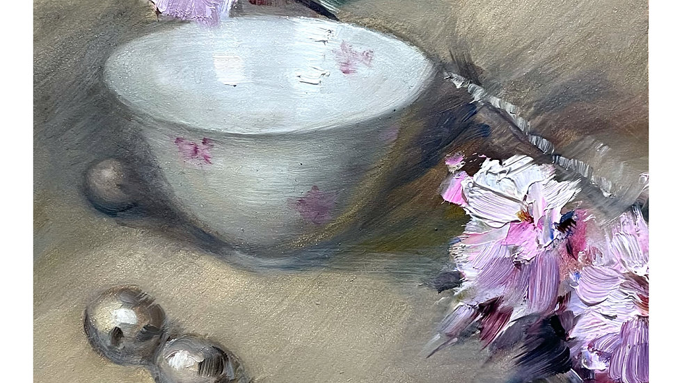 Cherry Blossom and a Japanese Bowl