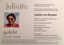 Clubmitglied Juliette verstorben