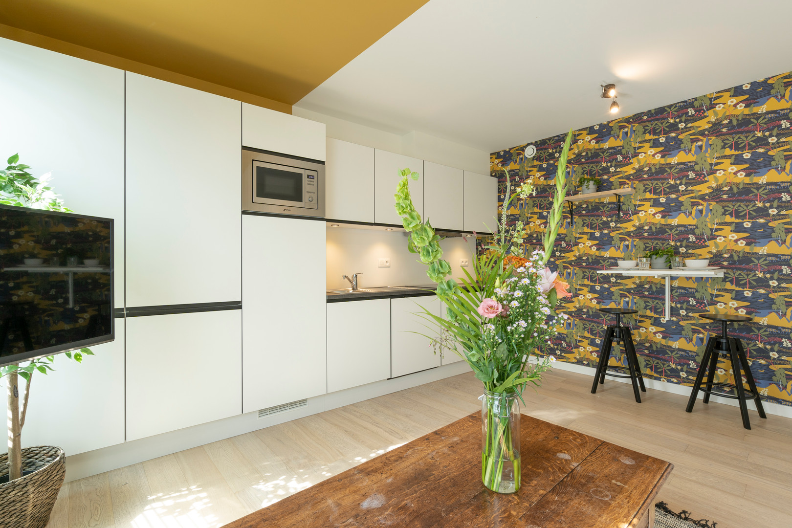 The Indian Yellow - SHWAY 62 - studio kitchen