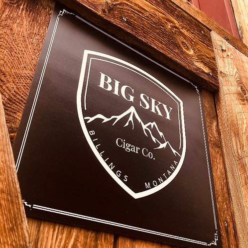 Big Sky Cigar, Co. Sign