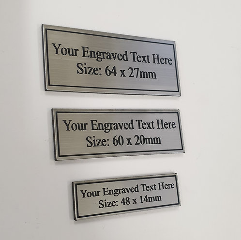 Engraved Name Plates (Small)