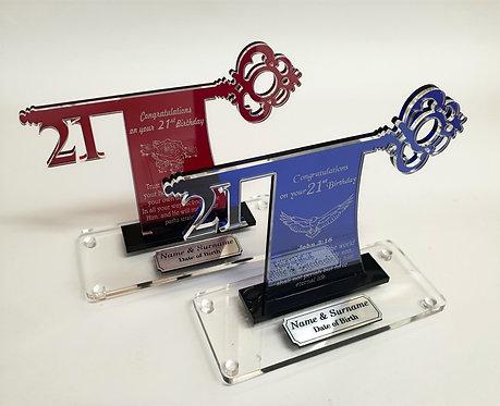 Custom Acrylic Key Award