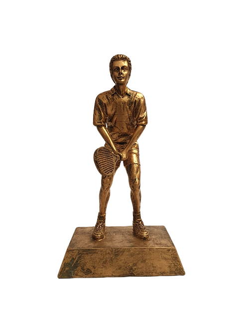 Bronze Resin Tennis Figure (Male)