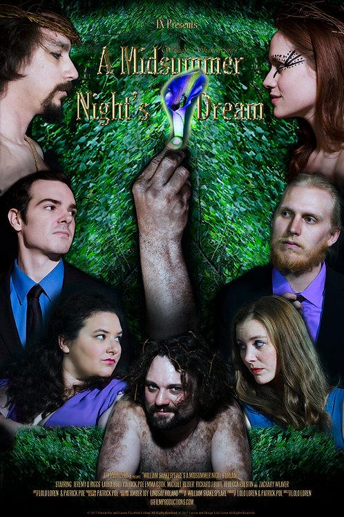 """11x17 Poster - """"A Midsummer Night's Dream"""""""