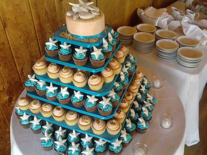 Flickr - cupcake tower seashells