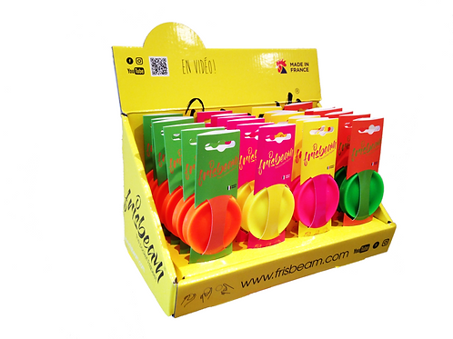 Pack de 24 frisbeams (3 couleurs)