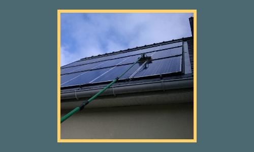 Nettoyage de panneaux photovoltaïques à Lille