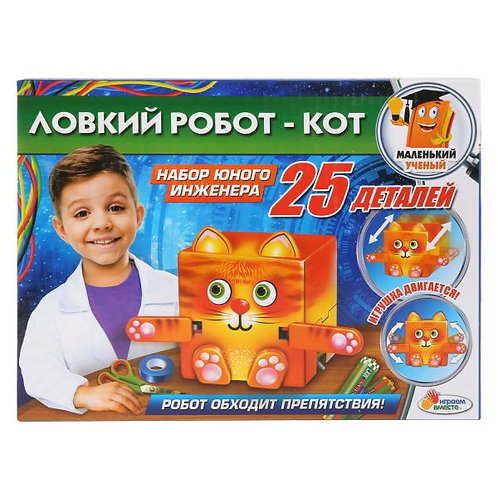 14-025-301 Игрушка опыты Играем вместе: ЛОВКИЙ РОБОТ-КОТ