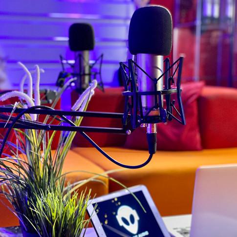 Podcast Studio at Cosmic Audio