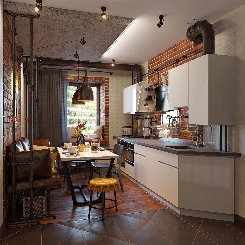 Кухня при дневном освещении