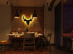 Кухня при вечернем освещении