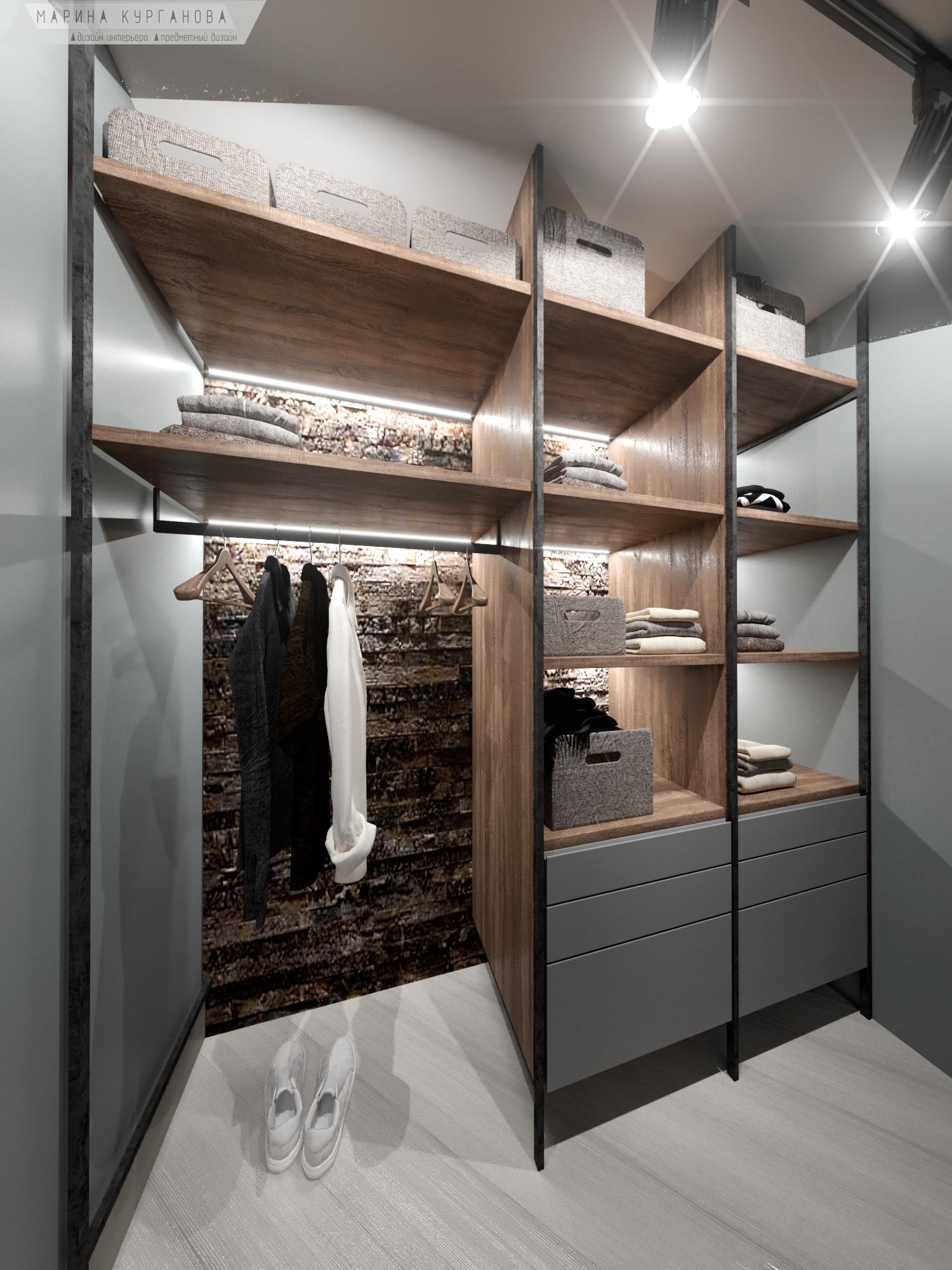 Шкаф-гардеробная в комнате для юноши
