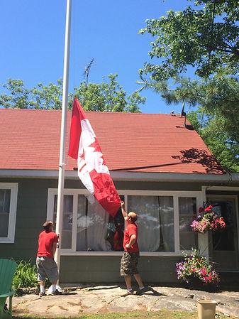 Raising a Canada Flag