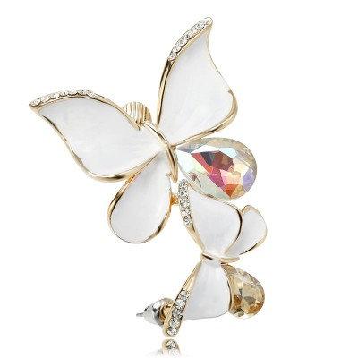 Crystal Double Butterfly Ear Cuff