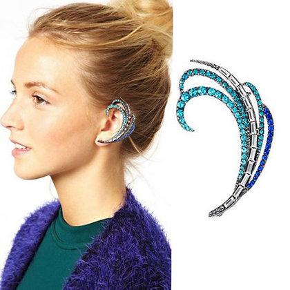 Blue/Purple Swirl Ear Cuff
