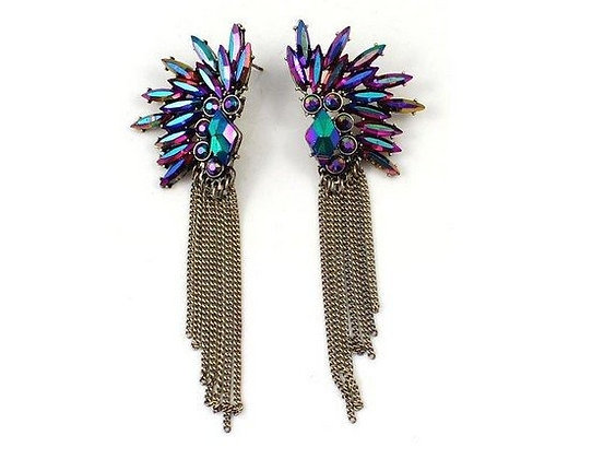 Mini Gemstone Tassel Earrings