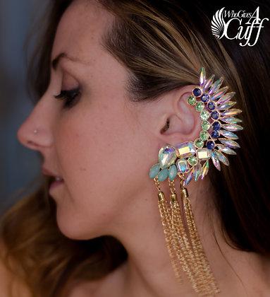 Gemstone Tassel Ear Cuff Wrap