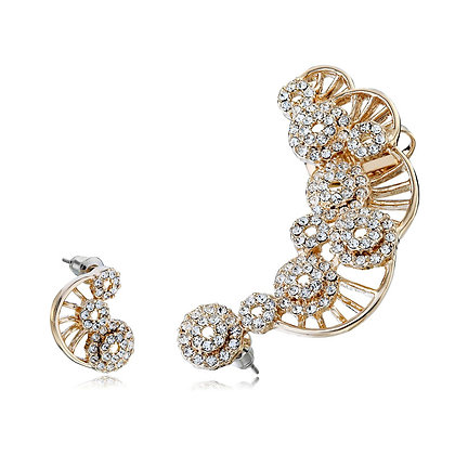 Rhinestone Waves Ear Cuff SET