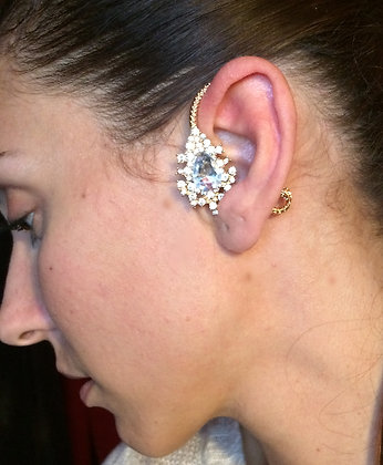 Gold Flower Ear Wrap Cuff
