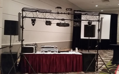 "High school prom DJ package complete with dual HD projectors and giant 150"" screens"