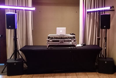 Main Event package, dinner music, cocktail music, dancefloor wash lighting, experienced interactive DJ, quality sound