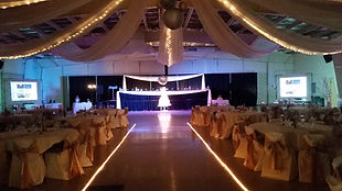 Wedding Deluxe package, 8 foot screens, large rooms, large crowds,  beautiful reception