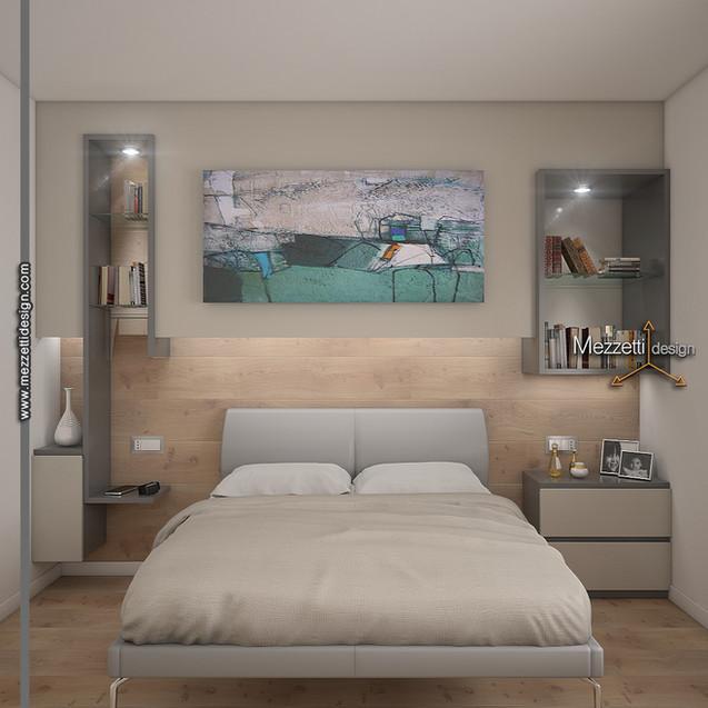 Progetto della parete di un letto