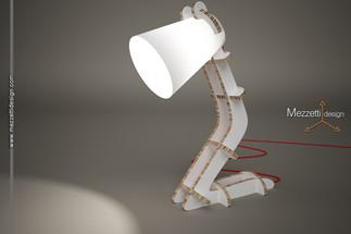 Progetto di una lampada in cartone