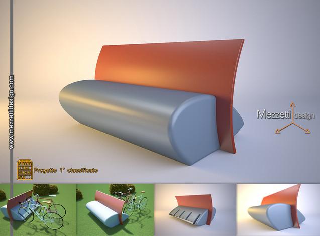 Progetto di una panchina per arredo urbano