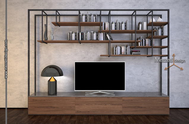 Progetto di una parete tv