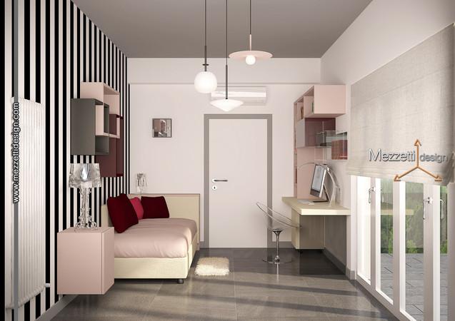 Progetto di una camera per ragazza
