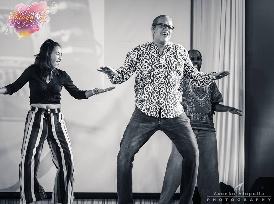 Steve Colon, Jenny Ordonez, Marlon Mills at Salsa Fiesta Bangkok