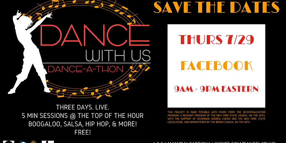 Dance With Us Live Danceathon on Facebook!