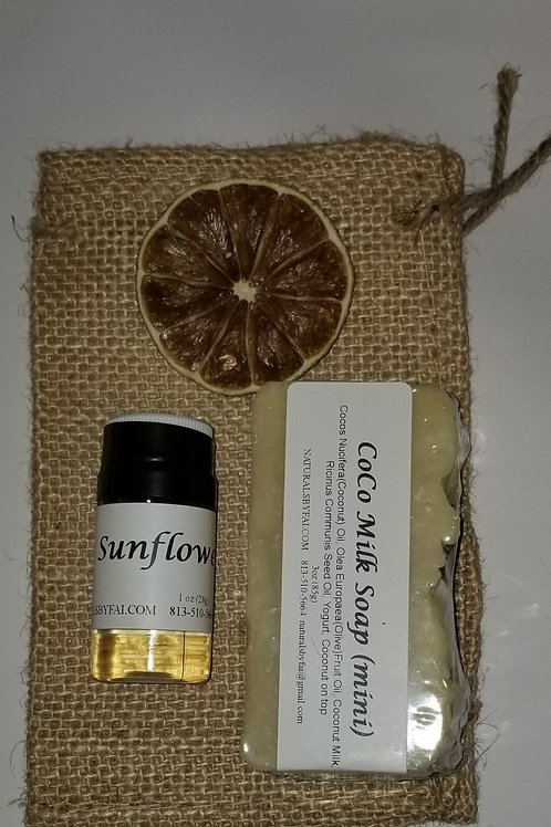Gift Bag #3 Cocomilk Soap & Sunflower
