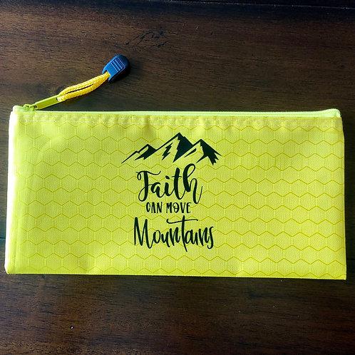 """Faith Can Move Mountains"" Travel Pouch"