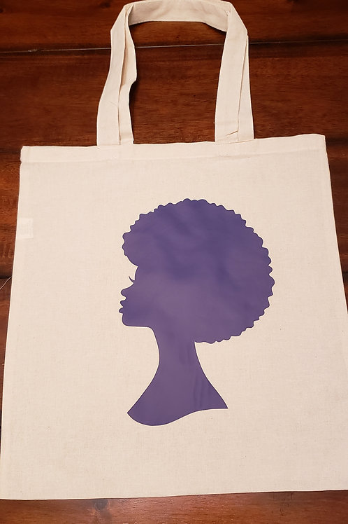 Afro Cloth Bag Purple