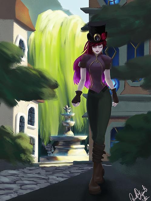 Ilustração - O caminho de Ava