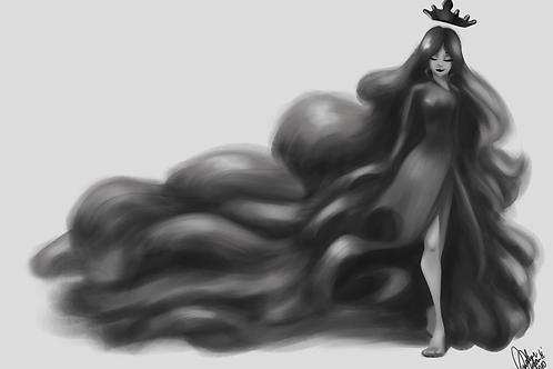 Ilustração - Dama Morte