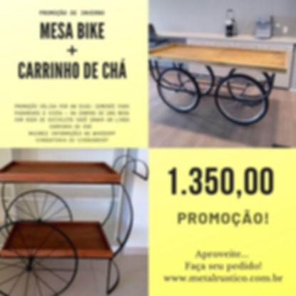 Promoção - Mesa Bike + Carrinnho de chá