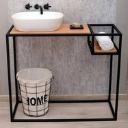 suporte estilo industrial lavabo