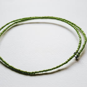 Green Spiral Wire Necklace - WN05