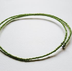 Green Spiral Wire Necklace - WN05