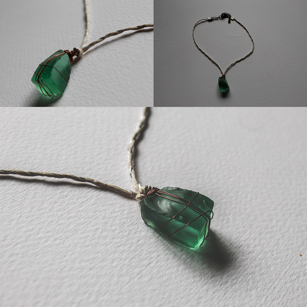 Short SeaGlass Necklace - SN06