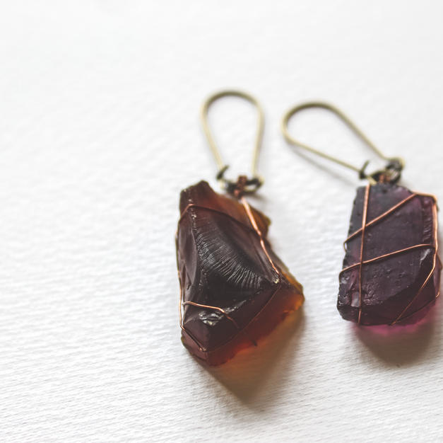 Mismatched SeaGlass Earrings - GE02