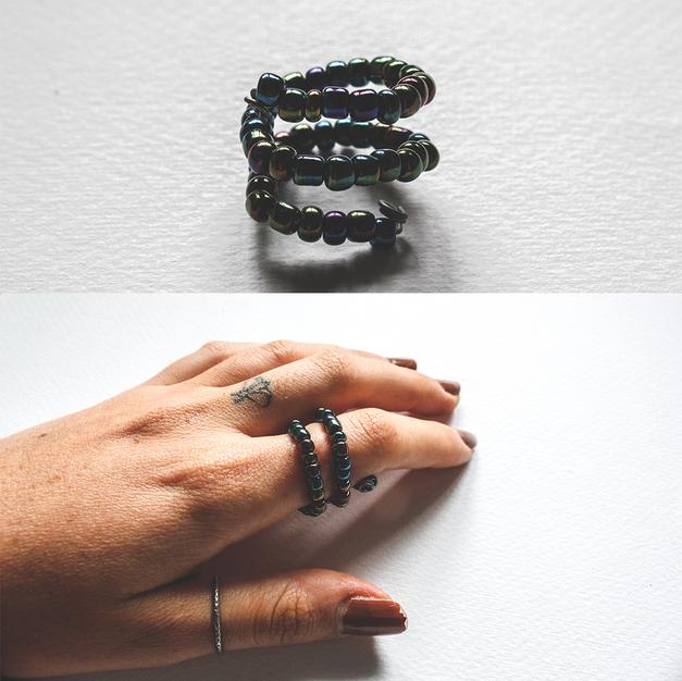 Iridescent Spiral Ring - R01