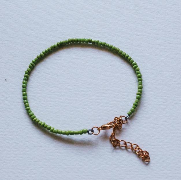 Green Wire Bracelet -WB02