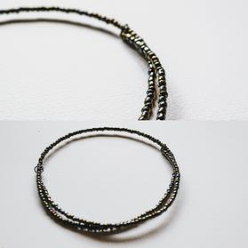 Iridescent Spiral Wire Necklace - WN04