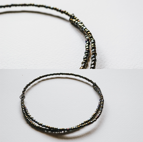Iridescent Spiral Wire Necklace - WN04