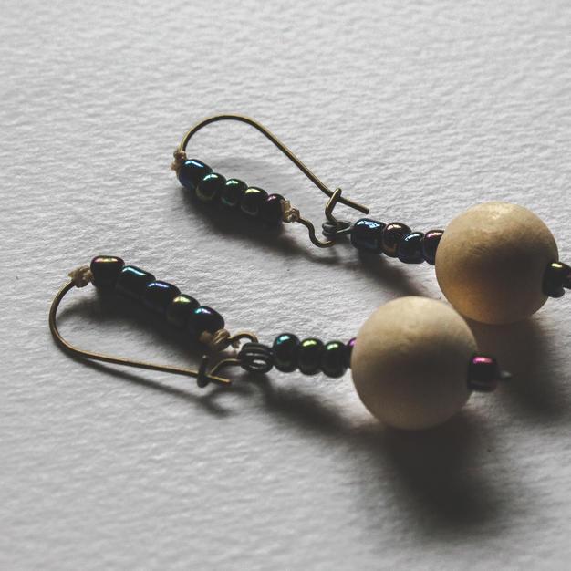 Wooden Bead Earrings